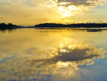 Daybreak in Blue Hill Maine Royalty Free Stock Photography
