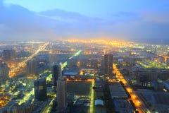 Daybreak of kaohsiung city Stock Image