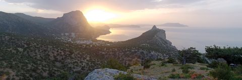 Daybreak landscape Royalty Free Stock Photography
