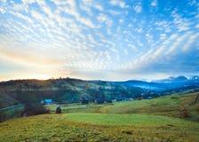Daybreak in mountain Stock Photo