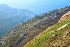 Daybreak mountain landscape Stock Photography