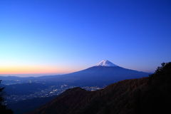 Daybreak at the Mt. Fuji Royalty Free Stock Image