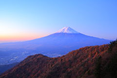 Daybreak at the Mt. Fuji Royalty Free Stock Photography
