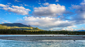Daybreak over the Athabasca River Royalty Free Stock Photo