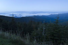 Daybreak over Smoky Mountains Royalty Free Stock Photography