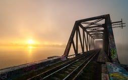 Daybreak on Prince of Wales Railway trestle, Ottawa, Ontario Royalty Free Stock Photos