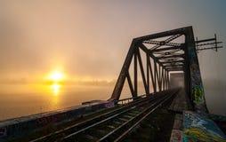 Daybreak on Prince of Wales Railway trestle, Ottawa, Ontario Stock Image