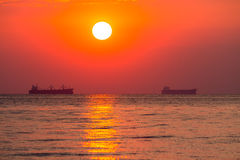 Daybreak at sea Royalty Free Stock Photography