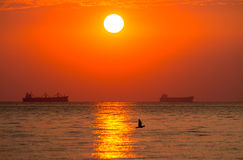 Daybreak at sea Royalty Free Stock Photo