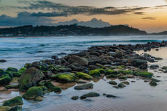 Daybreak Seascape. Avoca Beach, Central Coast, NSW, Australia Stock Photo
