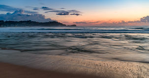 Daybreak Seascape. Avoca Beach, Central Coast, NSW, Australia Royalty Free Stock Photography