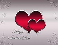 Daycard decorativo del biglietto di S. Valentino Fotografia Stock Libera da Diritti