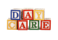 Daycare - alphabet blocks isolated Royalty Free Stock Image