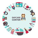 Daycare center emblem Royalty Free Stock Images