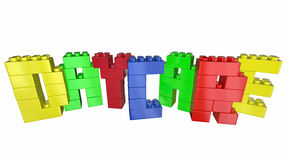 Daycare Child Care Center Toy Blocks Word Royalty Free Stock Photography