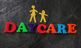 Daycare letters family Stock Photos