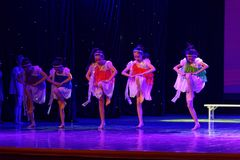 Daydream танца ` s детей испытания звёздной академии танца Пекина неба сортируя выставка Цзянси достижения выдающего уча стоковое фото