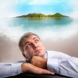 Daydreaming работник офиса Стоковые Фотографии RF