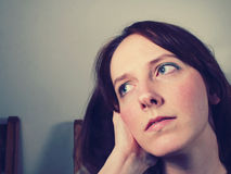 Daydreaming beautiful woman Royalty Free Stock Photos