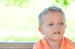 Daydreaming boy Royalty Free Stock Image