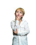 Daydreaming boy Royalty Free Stock Images