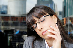 Daydreaming Business Woman Stock Image