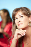 Daydreaming businesswoman Royalty Free Stock Photography