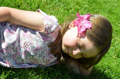 Daydreaming child Stock Image