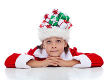 Daydreaming about christmas Stock Photo