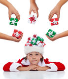Daydreaming about christmas Stock Photos