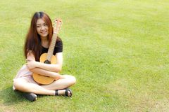 Guitarist girl 2 royalty free stock image