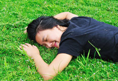 Daydreaming on grass Stock Photography