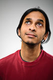 Daydreaming Indian Ethnic Man Looking Up Stock Photos