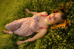 Daydreaming on the meadow Stock Photos