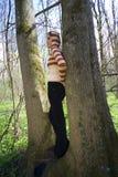 Daydreaming nella foresta Fotografie Stock Libere da Diritti
