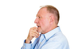Daydreaming serious man stock photo