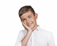 Daydreaming teenager boy Stock Photography