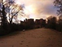 Dayfall do castelo Fotografia de Stock