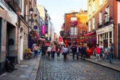Daylife al quarto popolare di Antivari del tempio a Dublino, Irlanda Fotografie Stock Libere da Diritti