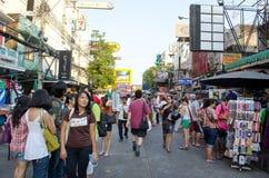 Daylife in der khaosan Straße Stockfotografie
