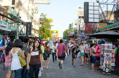 Daylife in khaosan road Stock Photography