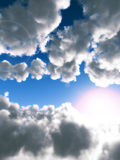Daylight 2. An image of some clouds in a sunny daytime sky, it would make a good cloudy background Royalty Free Stock Images