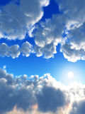 Daylight. An image of some clouds in a sunny daytime sky, it would make a good cloudy background Stock Photography