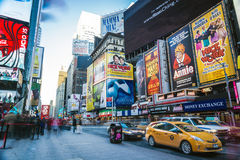 Daylight long exposure at Times Square, New York City Stock Images