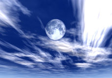 Daylight Moon Stock Photography