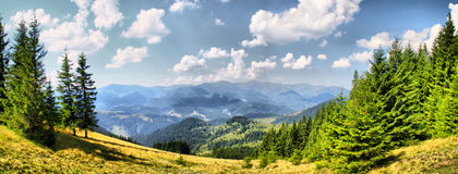 Daylight  mountain landscape. Mountain landscape in carpathian mountains in sommer Royalty Free Stock Photography