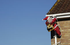 Daylight Santa. Santa delivering presents in daylight Royalty Free Stock Images