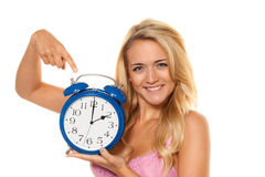 Daylight-saving time,. Daylight-saving time of summer time to winter time Royalty Free Stock Image