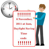 Daylight saving time. Royalty Free Stock Photos