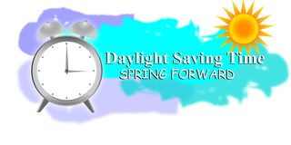 Daylight Saving Time with clock and sun. Illustration of a Background for Daylight Saving Time with clock and sun royalty free illustration